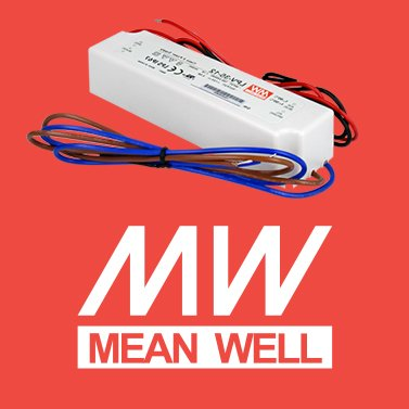 Alimentatore per led mean well 35W per esterno lpv-35-12