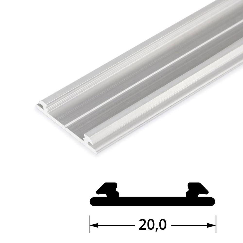 Profilo alluminio flessibile 1m