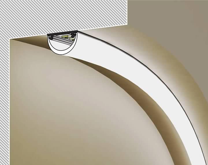 Mensole Di Vetro Con Led.Profilo Led Mensola Vetro 2m Logicsun Profili In Alluminio