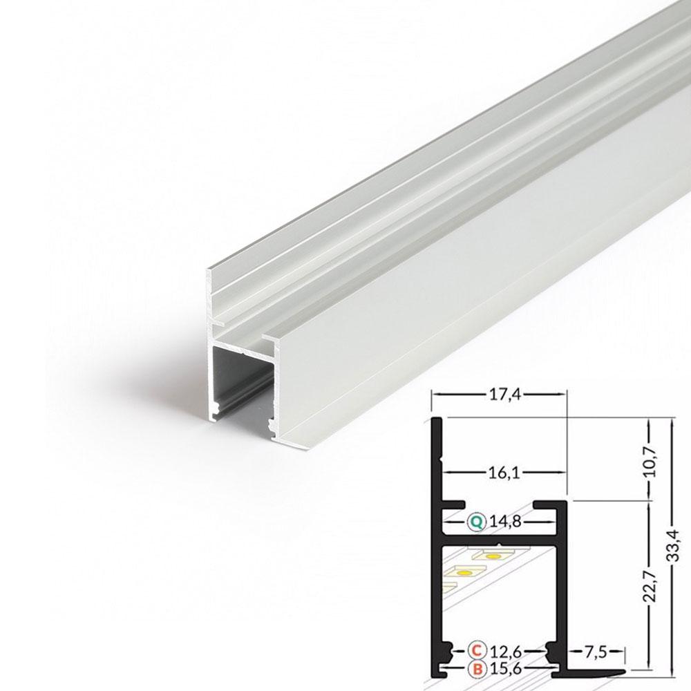 Profilo alluminio mensola