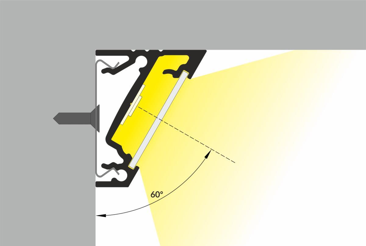 Profilo angolare 60 sezione
