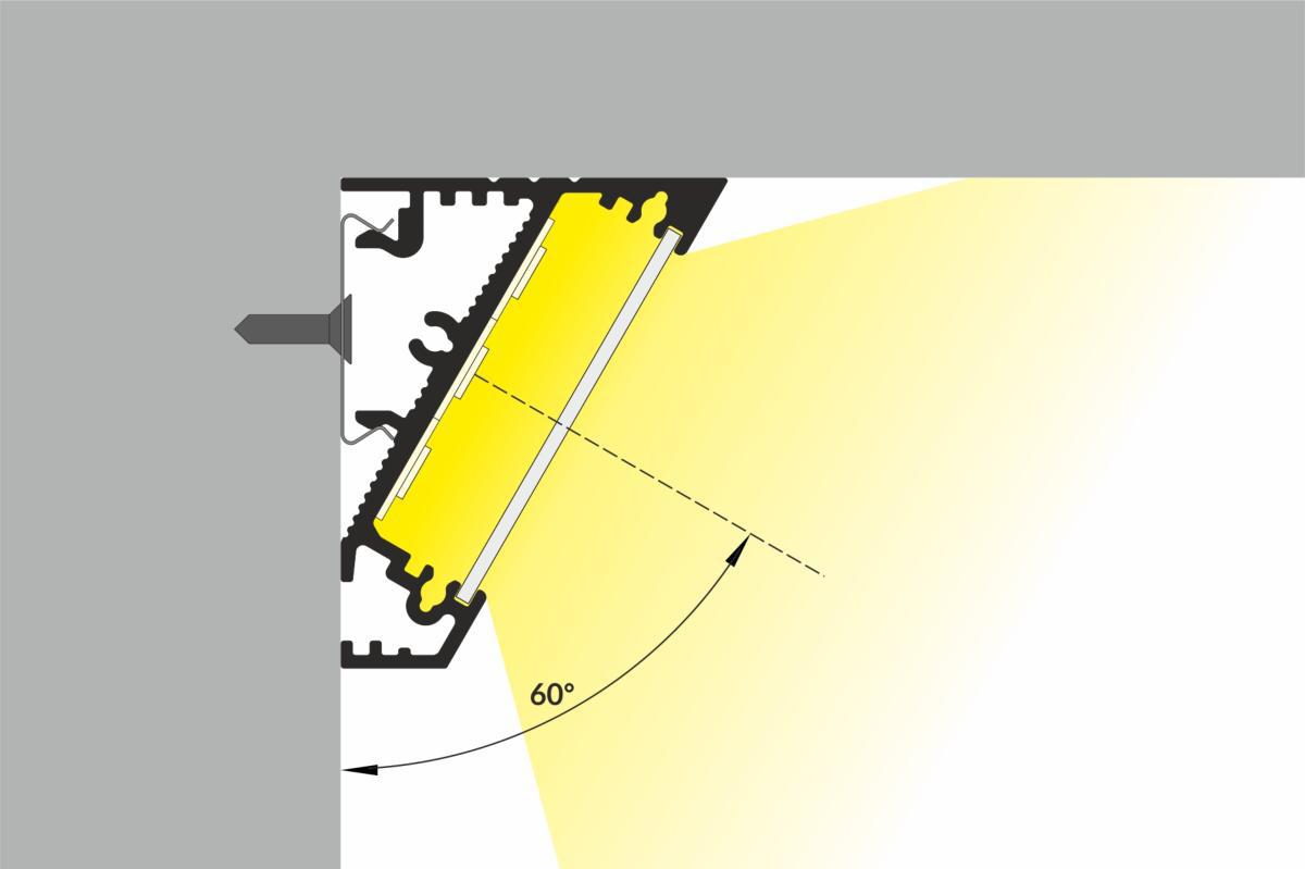 Profilo angolare 60 largo sezione
