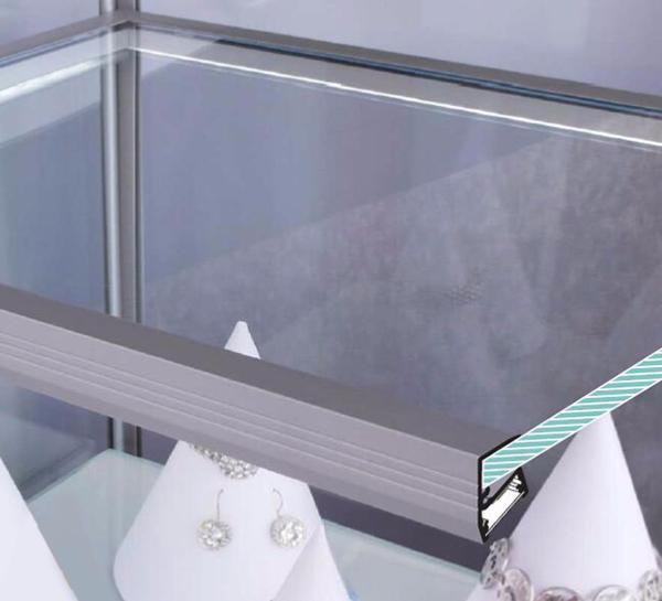 Mensole In Vetro Luminose.Profilo Mensola Vetro Logicsun Profili In Alluminio